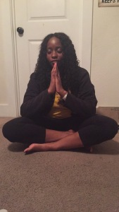 me attempting to meditate.